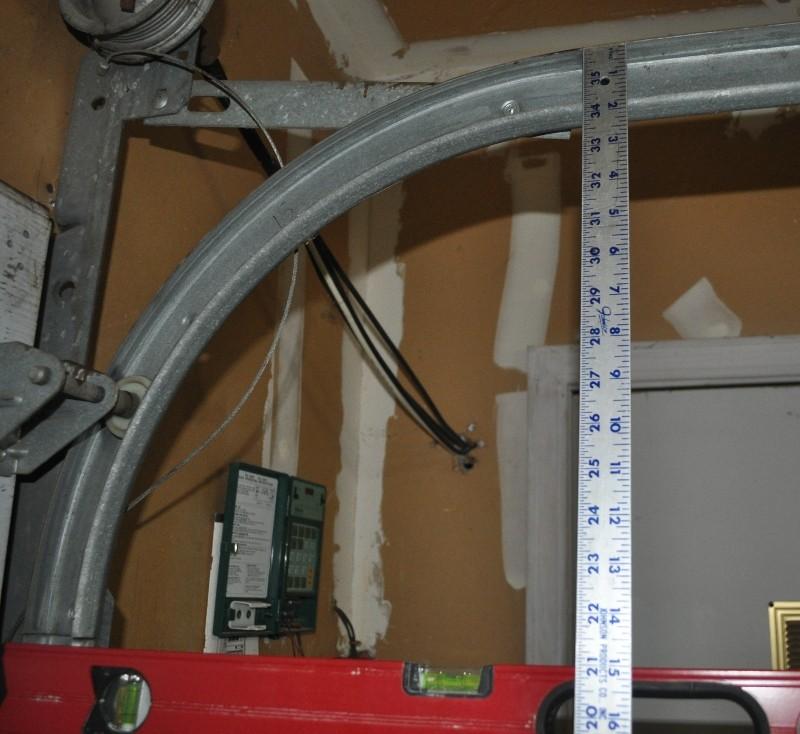 Overhead Door Track Radius : Bam garage door over the torsion spring snapped how