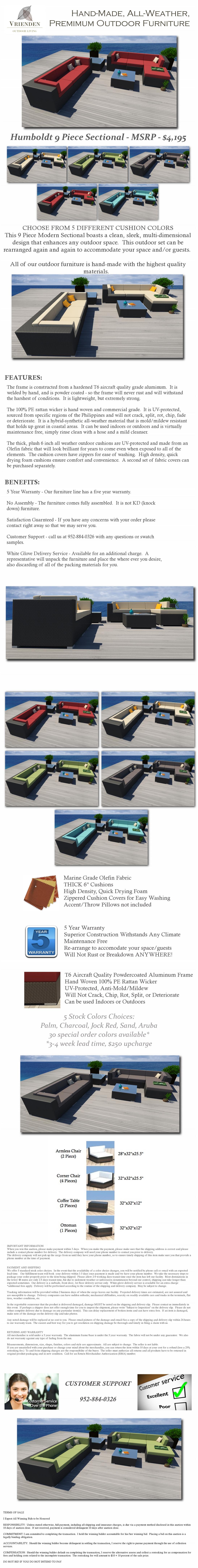 9PC Modern Gray Wicker Patio Set Outdoor Sectional Sofa ...