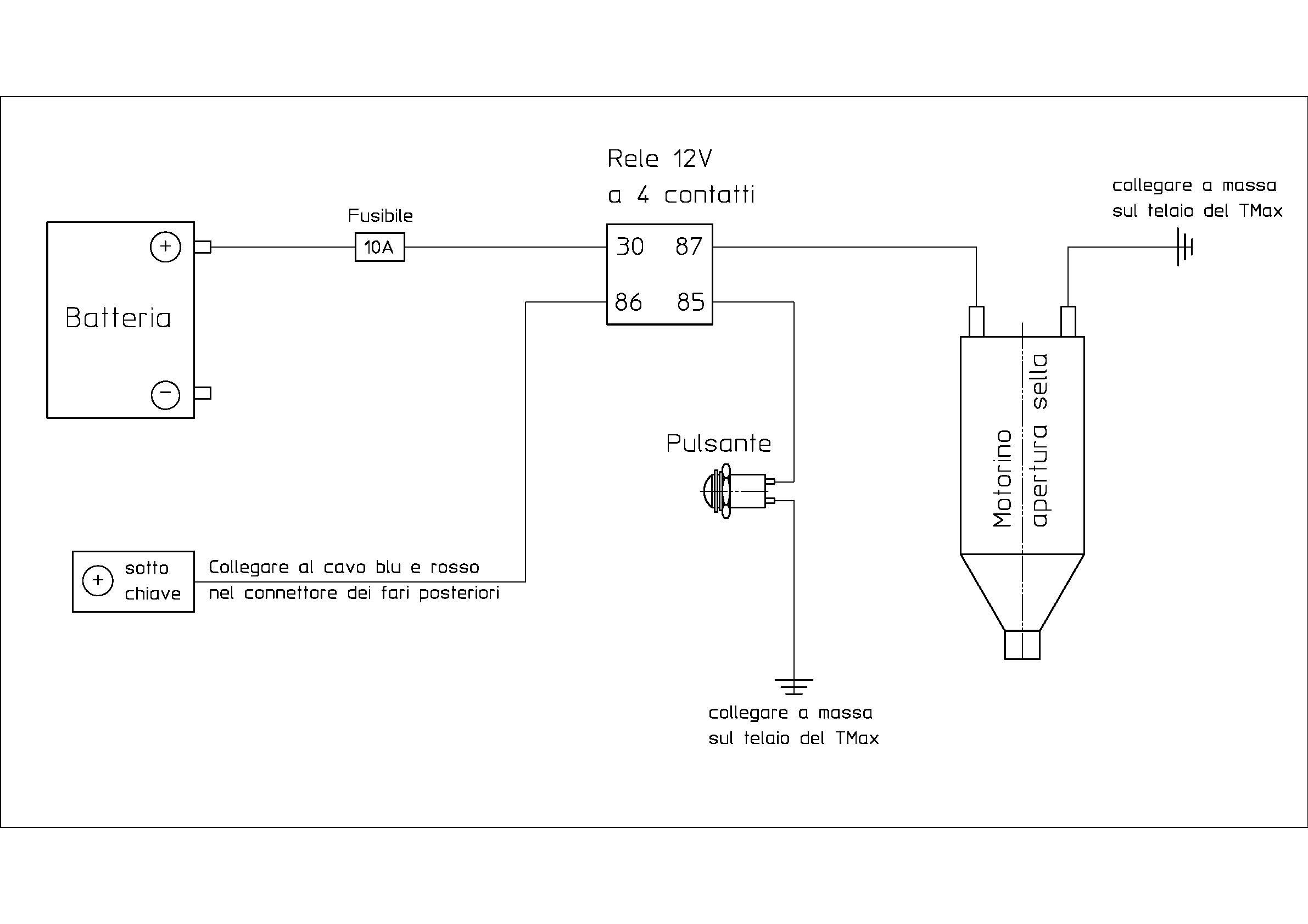 Schema Collegamento Motorino Tergicristallo : Tmaxclub leggi argomento sblocco elettrico della sella