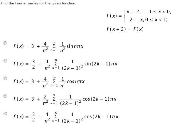 how to find the fourier series of a function