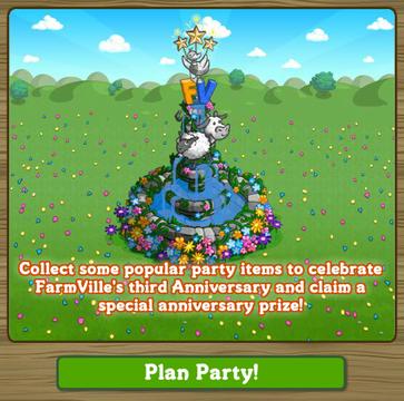 1  FarmVille's 3rd Birthday, Anniversary Fountain!