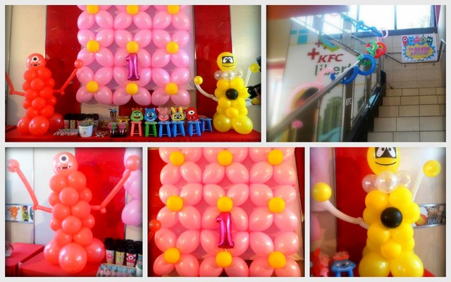 Yo Gabba Gabba Balloon Decor
