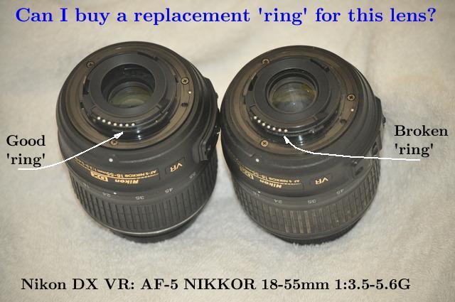 Where to get parts for a Nikon D5000 SLR: Lens=DX VR: AF-S Nikkor ...