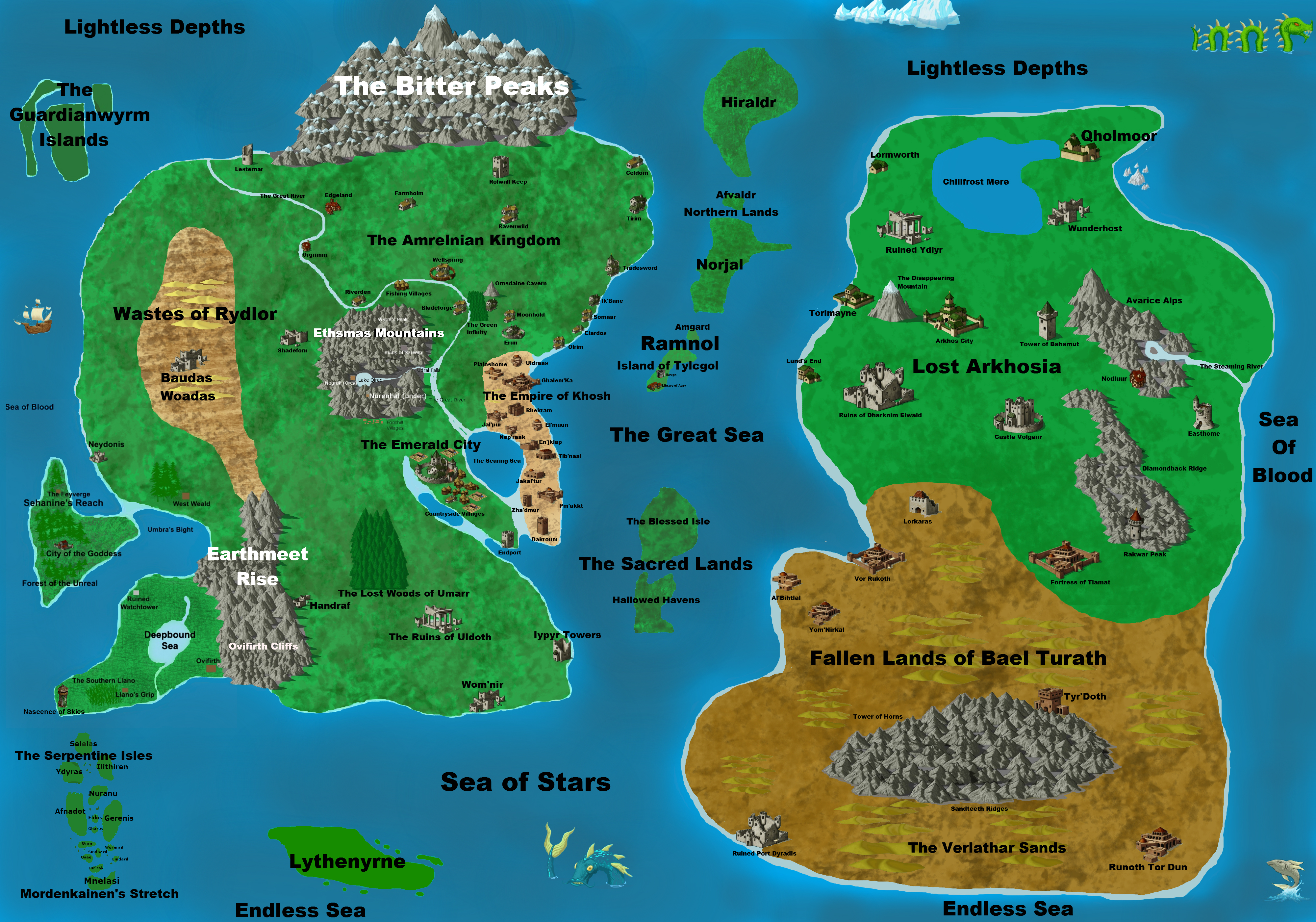 Dd 4e World Map.My Map So Far For My Rpg World Atlea Used For Reference In My D D